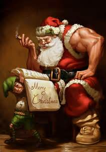 muscle men christmas picture 11