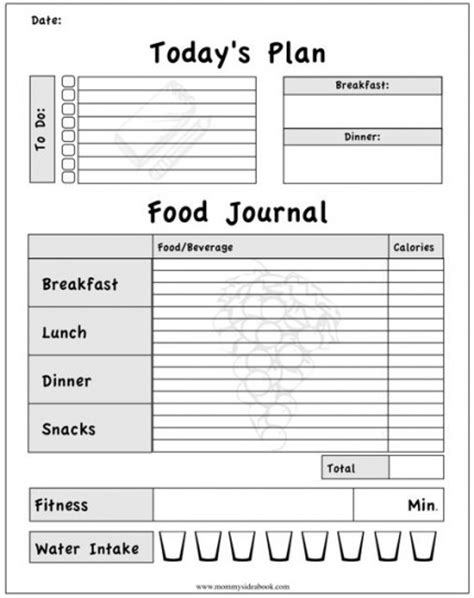 free printable diet journals picture 7