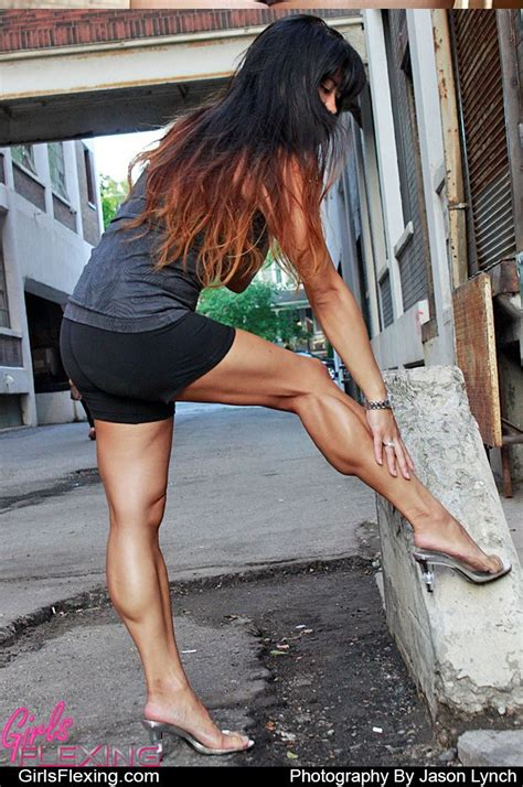 female muscle calves legs picture 19
