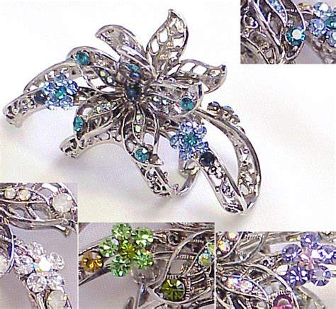 cheap wholesale crystal hair clips picture 1