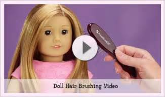 brushing american girl doll hair picture 1