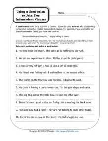 semicolon and colon grammar worksheets picture 1
