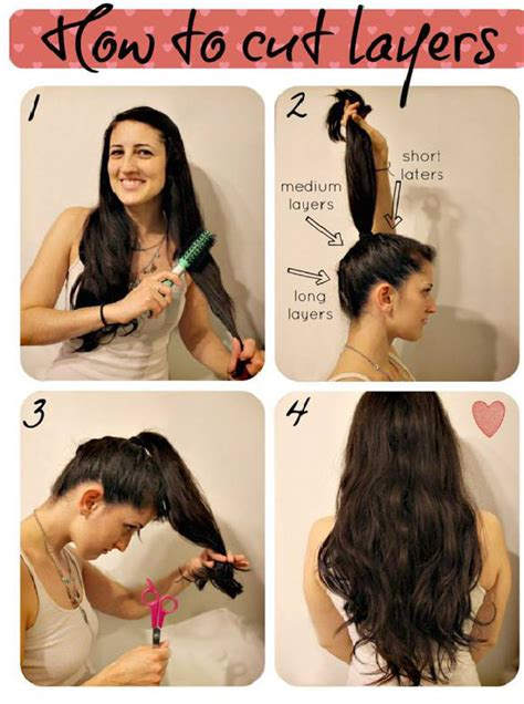 how to cut layers in long hair picture 2