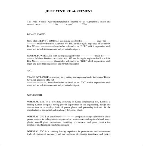 joint venture agreements picture 9