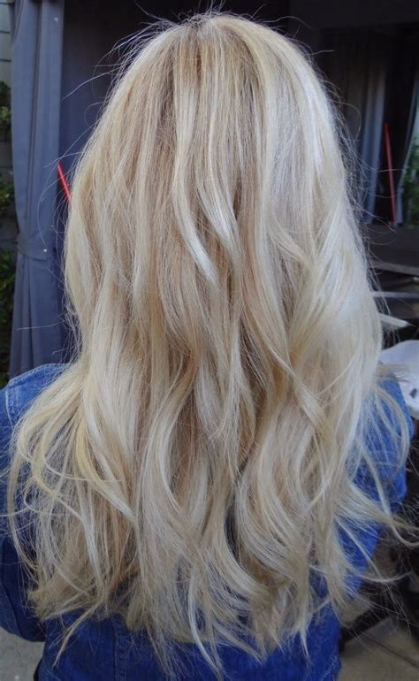 girls pure blonde color hair picture 6