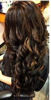 dark brown hair caramel highlights picture 3