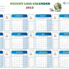 weight loss 2013 calendar picture 1