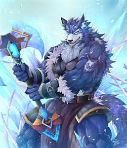 furry muscle picture 1