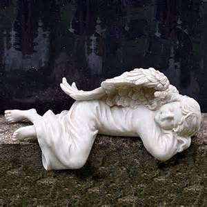 sleeping angel statue picture 1