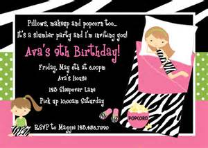 invitations for sleepover birthday party picture 5