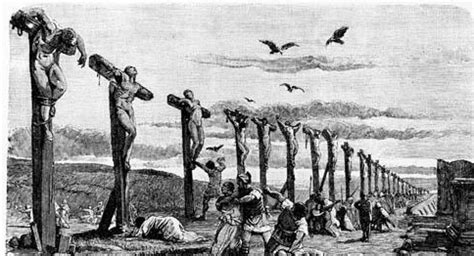 female crucifixion for punishment and pain picture 2