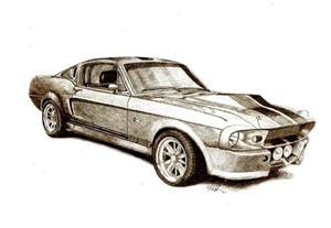 drawing old muscle cars picture 9