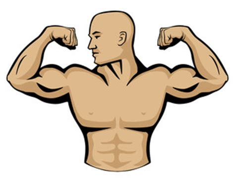 cartoon drawing of muscle man at beach picture 15