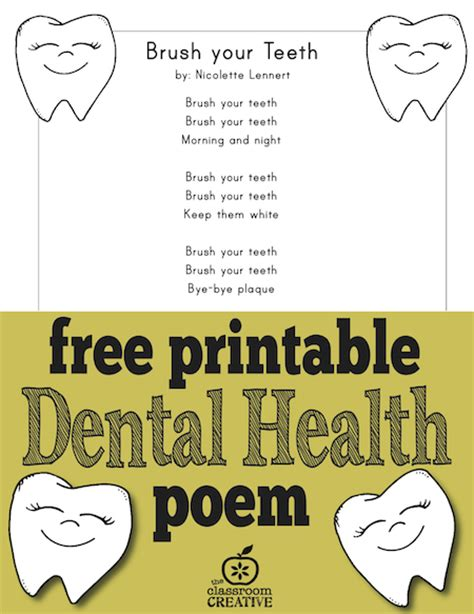 rhymes for healthy teeth picture 7