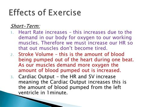 effects of exercise on heart rate and blood picture 4