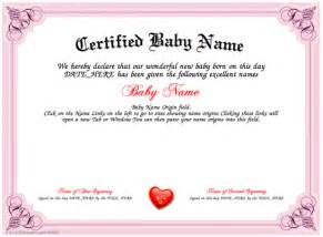 baby name certificate home based business picture 1