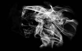woman in cloud of cigarette smoke picture 3