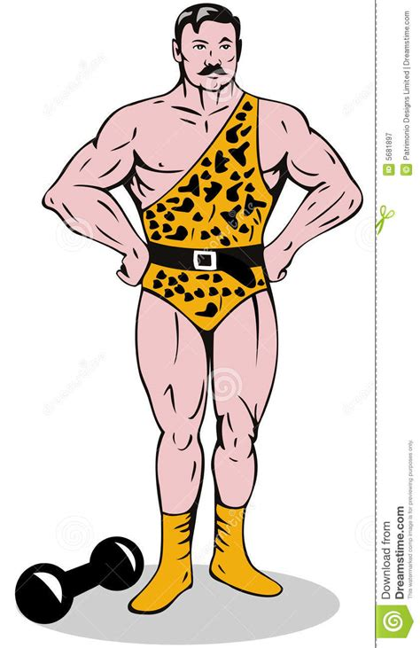 carnival beach muscle man drawings picture 15