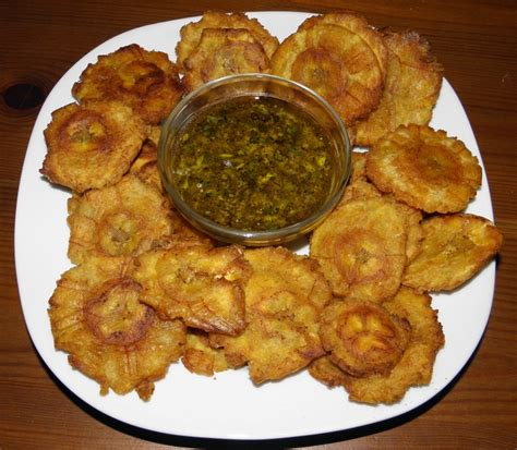 fried green plantains with garlic sauce picture 6