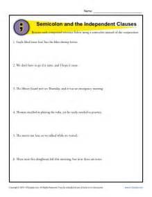 semicolon and colon grammar worksheets picture 6