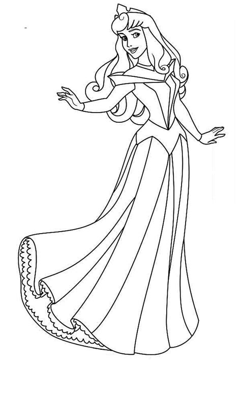 coloring pages disney princess sleeping beauty picture 1