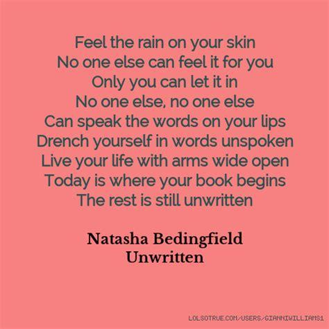 feel the rain on ur skin picture 10