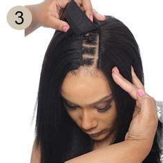 how to part hair to weandve or bo picture 9