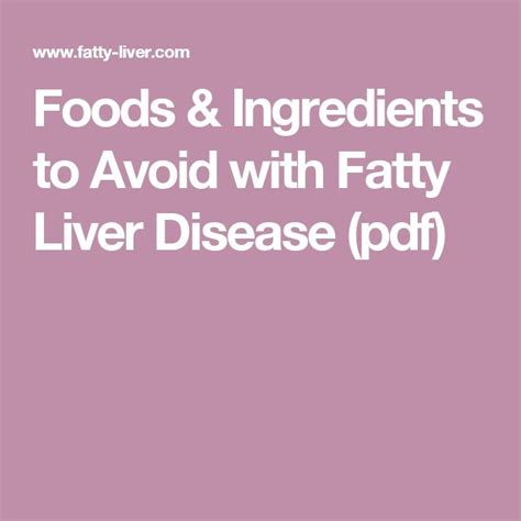 what foods to avoid with a fatty liver picture 10