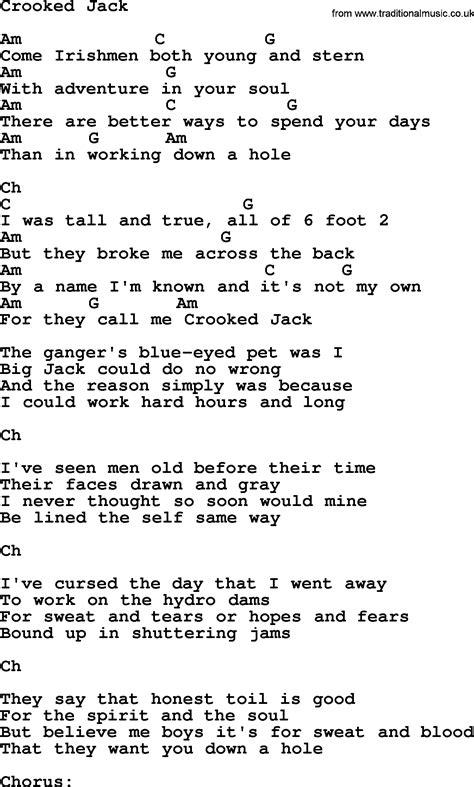 crooked h lyrics picture 1