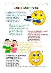 brushing teeth song and preschool picture 18