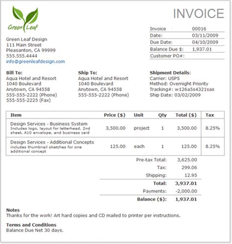 home business invoices picture 2