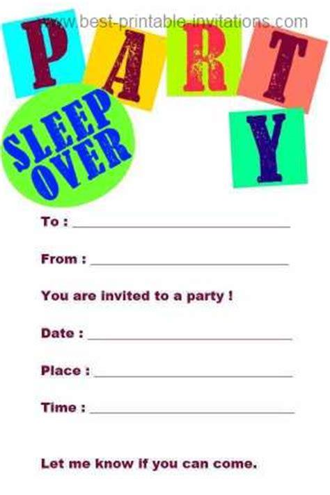 free printable sleepover party invitation picture 13