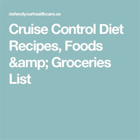 cruise diet picture 4