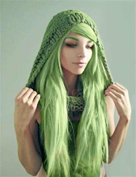 coloring hair green picture 13