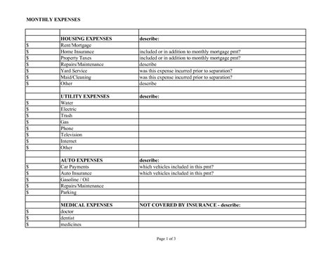 home business expense journal worksheet picture 15