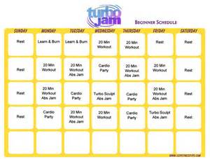 what is the workout calendar for turbo jam picture 2
