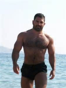 bodybuilder bear muscle hair . picture 11