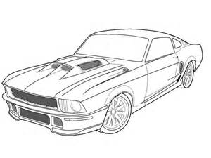 free printable muscle car art picture 2