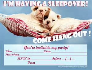 free printable sleepover party invitation picture 3