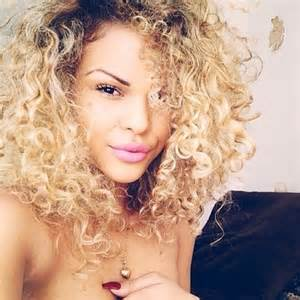 blonde curly hair women picture 1