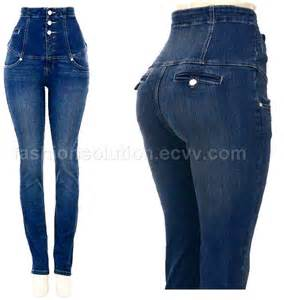 high waisted pocketless jeans picture picture 14