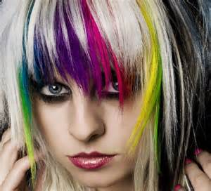 black hair with streaks and colors picture 7
