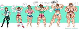 female muscle growth art picture 11