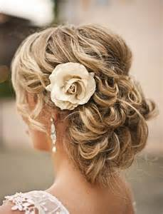 curly frizzie hair updo for wedding picture 14