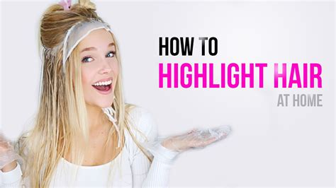 youtube how to highlight hair at home picture 1
