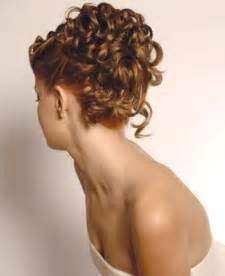 curly frizzy hair updo for wedding picture 18