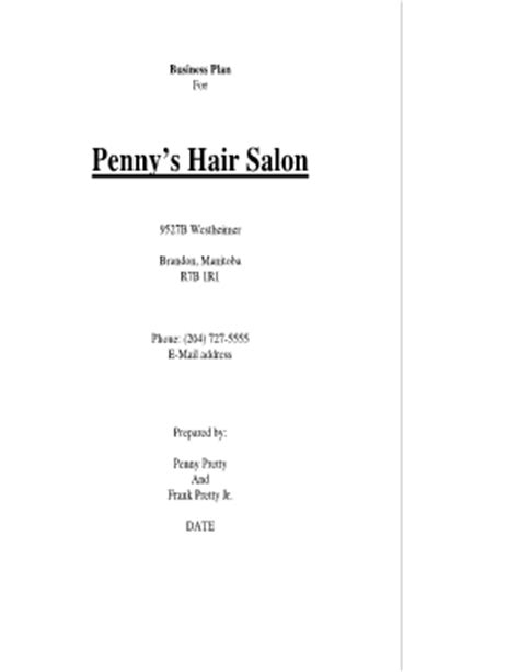 free online hair salon business plans picture 9