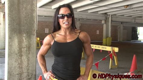 female flexing muscles picture 1