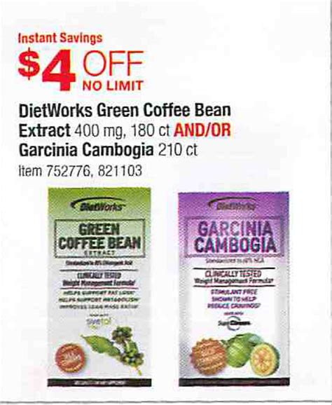 garcinia cambogia and green coffee bean sold in picture 1