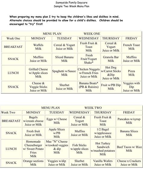 free printable diet plans picture 7